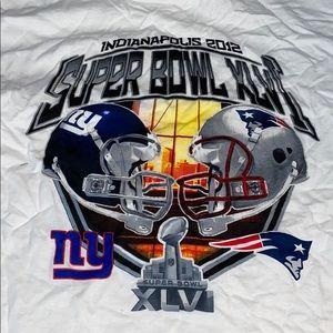 Super Bowl 2012 Patriots Giants Tshirt
